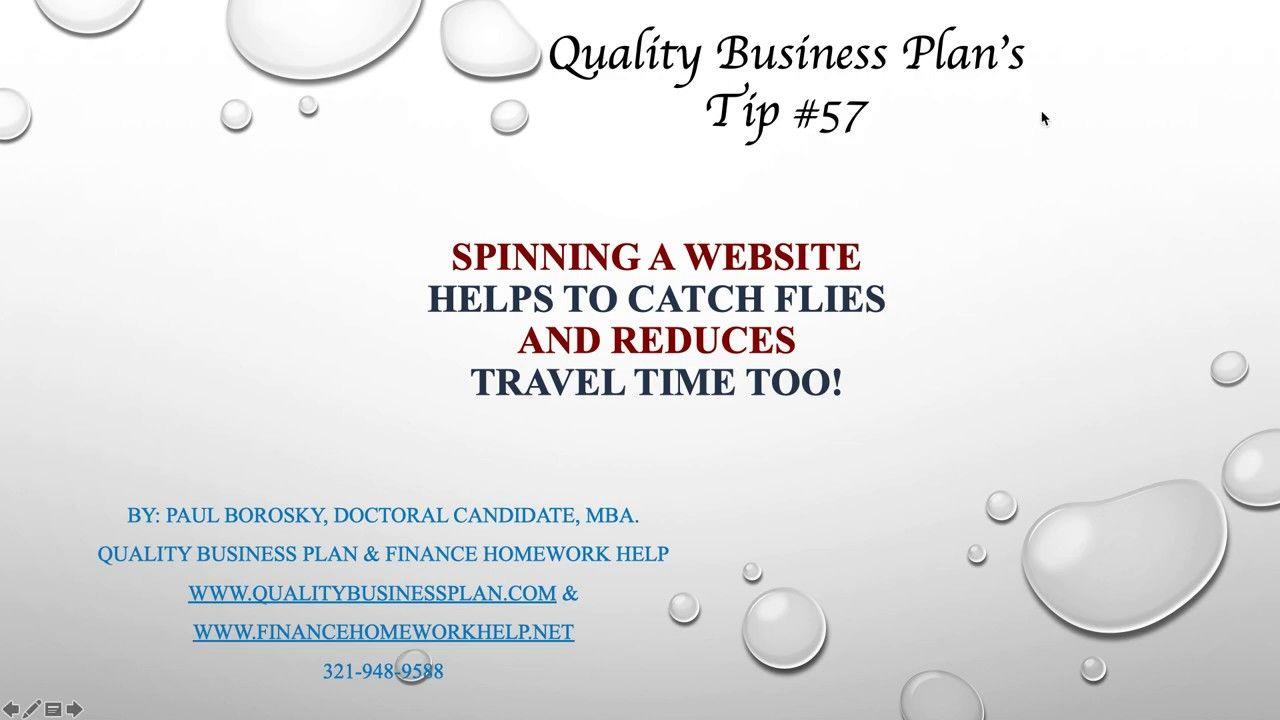 Business Plan Writer 's Tip 57 for Honolulu, HI. Website