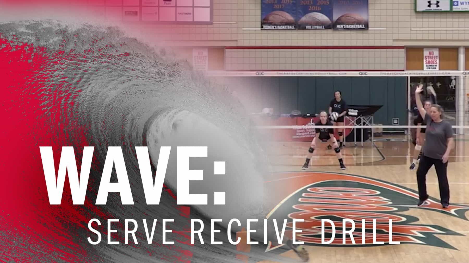 Wave Serve Receive Drill The Art Of Coaching Volleyball Coaching Volleyball Volleyball Serve Volleyball Drills