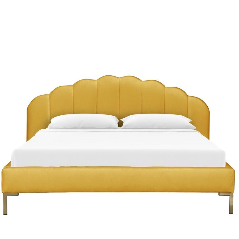 Queen Shell Platform Bed In Monaco Citronella In 2020 Platform
