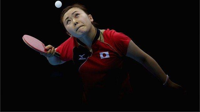 Ai Fukuhara Of Japan Completes During Women S Team Table Tennis Semi Final Match Ai Fukuhara Of Japan Completes During The Olympics Olympic Games Table Tennis