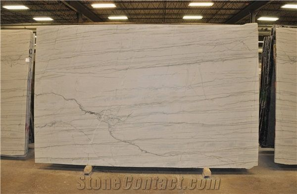 White Macaubas Quartzite Slabs, Brazil White Quartzite