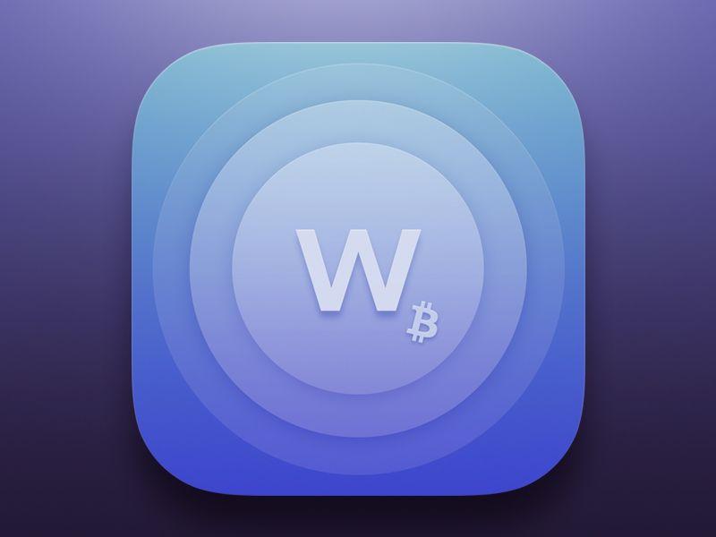 Bitcoin Wallet App icon App icon, App icon design, App logo