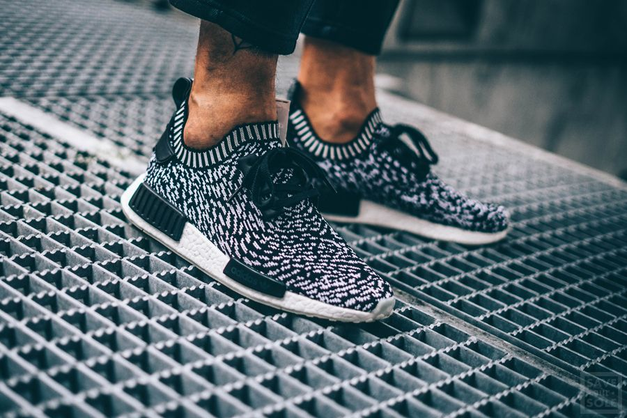 adidas nmd_r1 primeknit zebra black adidas superstar slip on sneakers black and white