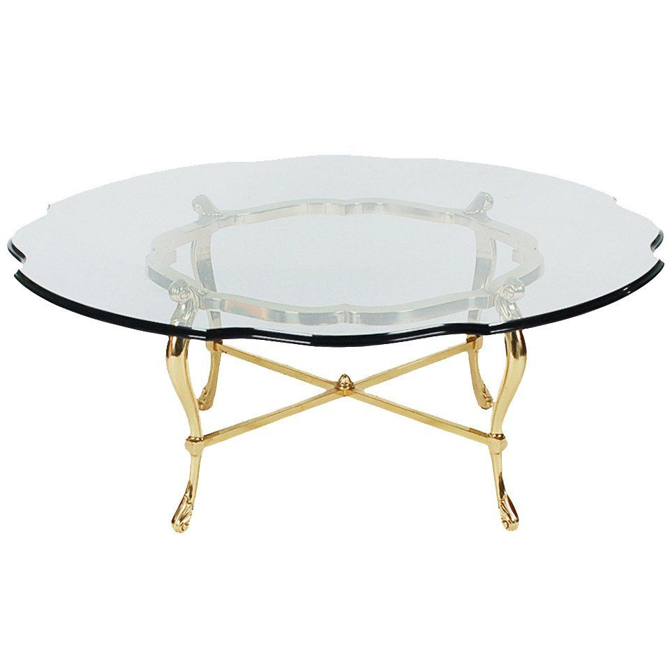 Hollywood Regency Brass And Glass Coffee Table After La Barge Brass Coffee Table Coffee Table Glass Coffee Table [ 960 x 960 Pixel ]