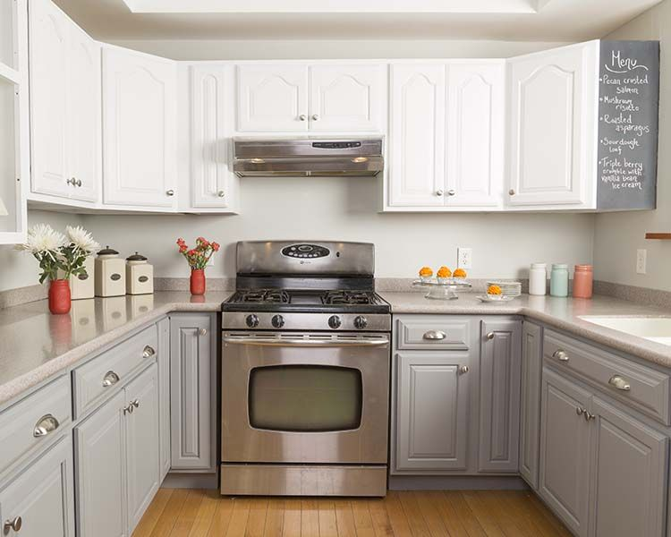 Get The Look Of New Kitchen Cabinets The Easy Way  Cabinet Best Spray Painting Kitchen Cabinets Review