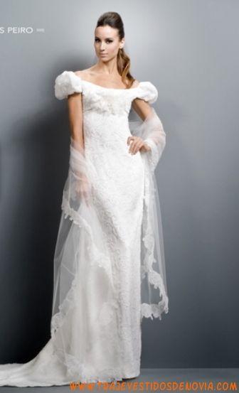 corte a cola corte vestido de novia elegante de encaje | vestidos de