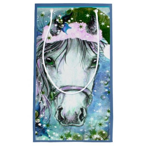 Holiday Horse Blue Gift Bag