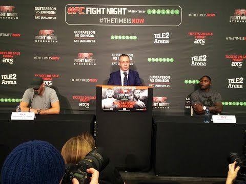 Ufc Fight Night Stockholm Alexander Gustafsson Vs Anthony Johnson Press Conference Mma Topics Ufc Fight Night Anthony Johnson Fight Night