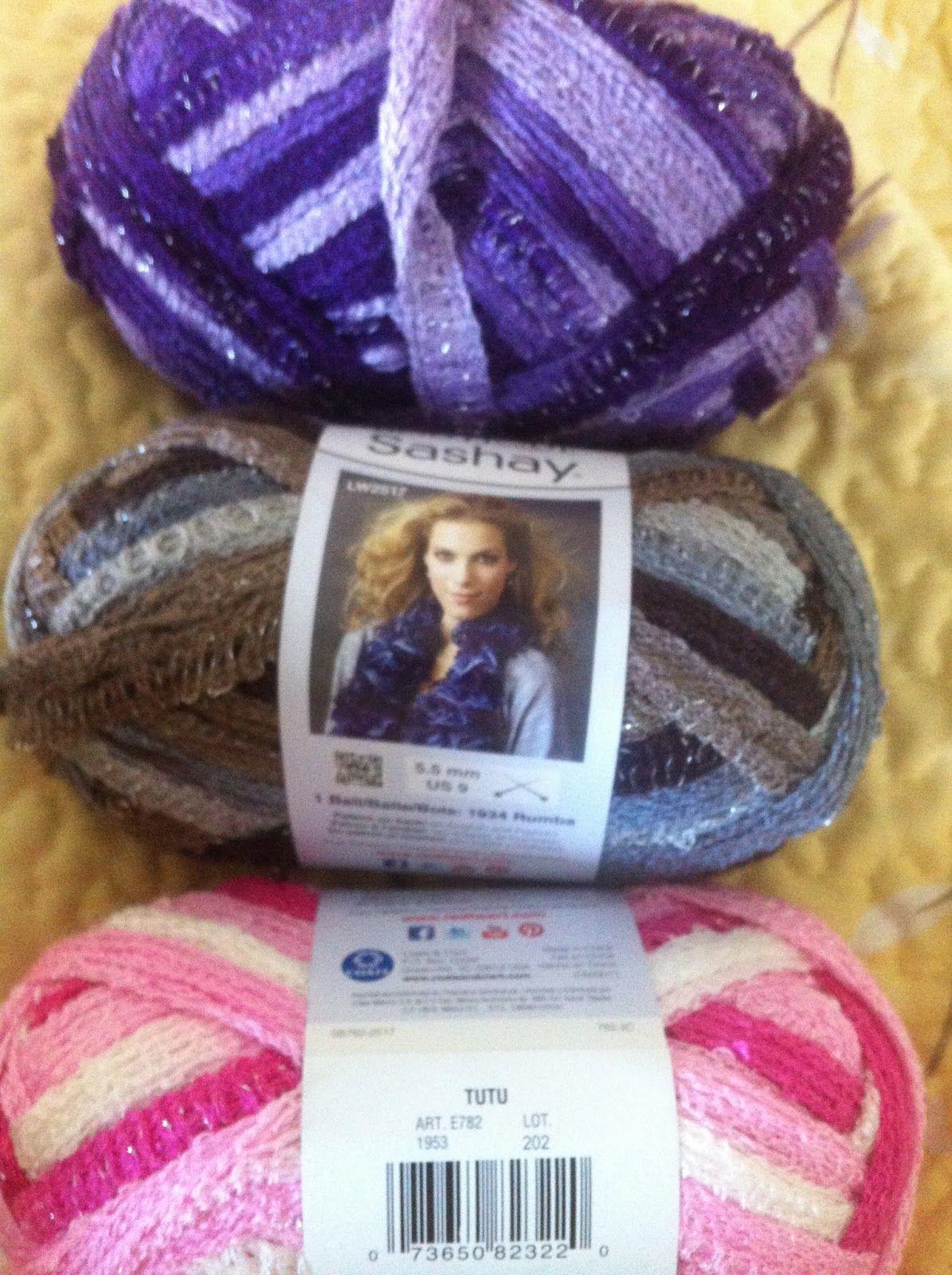 Easy Ruffle Scarf made with Sashay Yarn   Crocheting   Pinterest