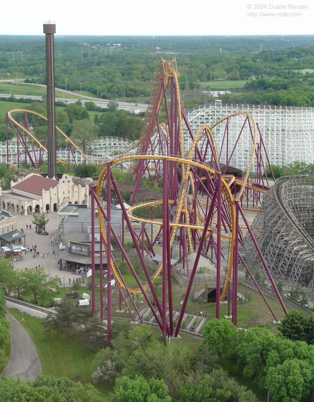 Raging Bull Six Flags Great America Great America Six Flags Great Adventure Theme Parks Rides