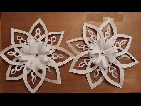 how to make 3d paper snow flake