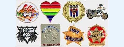 Soft enamel pin badges