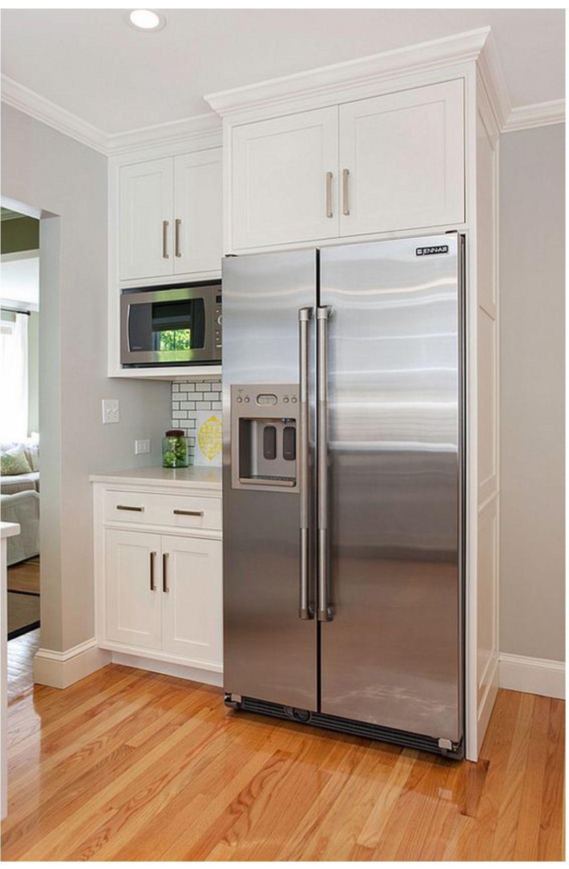 New Microwave Shelf Cabinet In 2020 Farmhouse Kitchen Design Kitchen Layout Kitchen Style