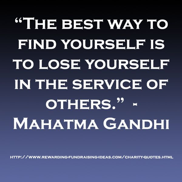 Best Charity Quotes: #Charity #Quote From The RFI Facebook Page