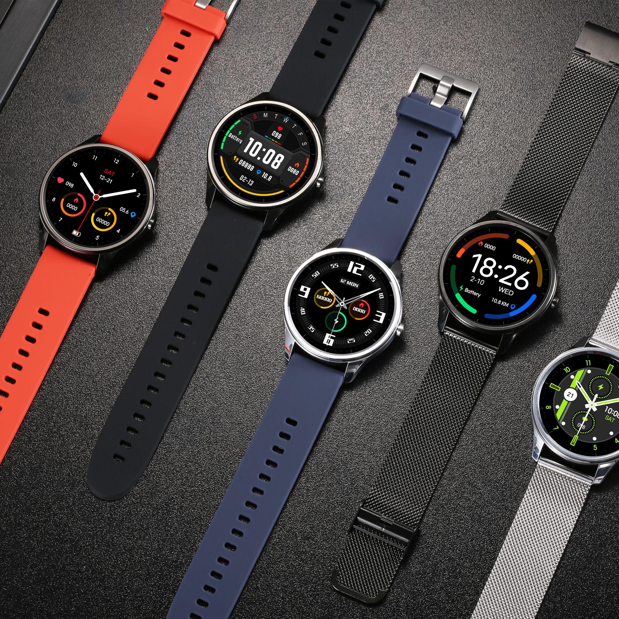 Dt55 Smartwatch Smart Watch Leather Watch Wearable