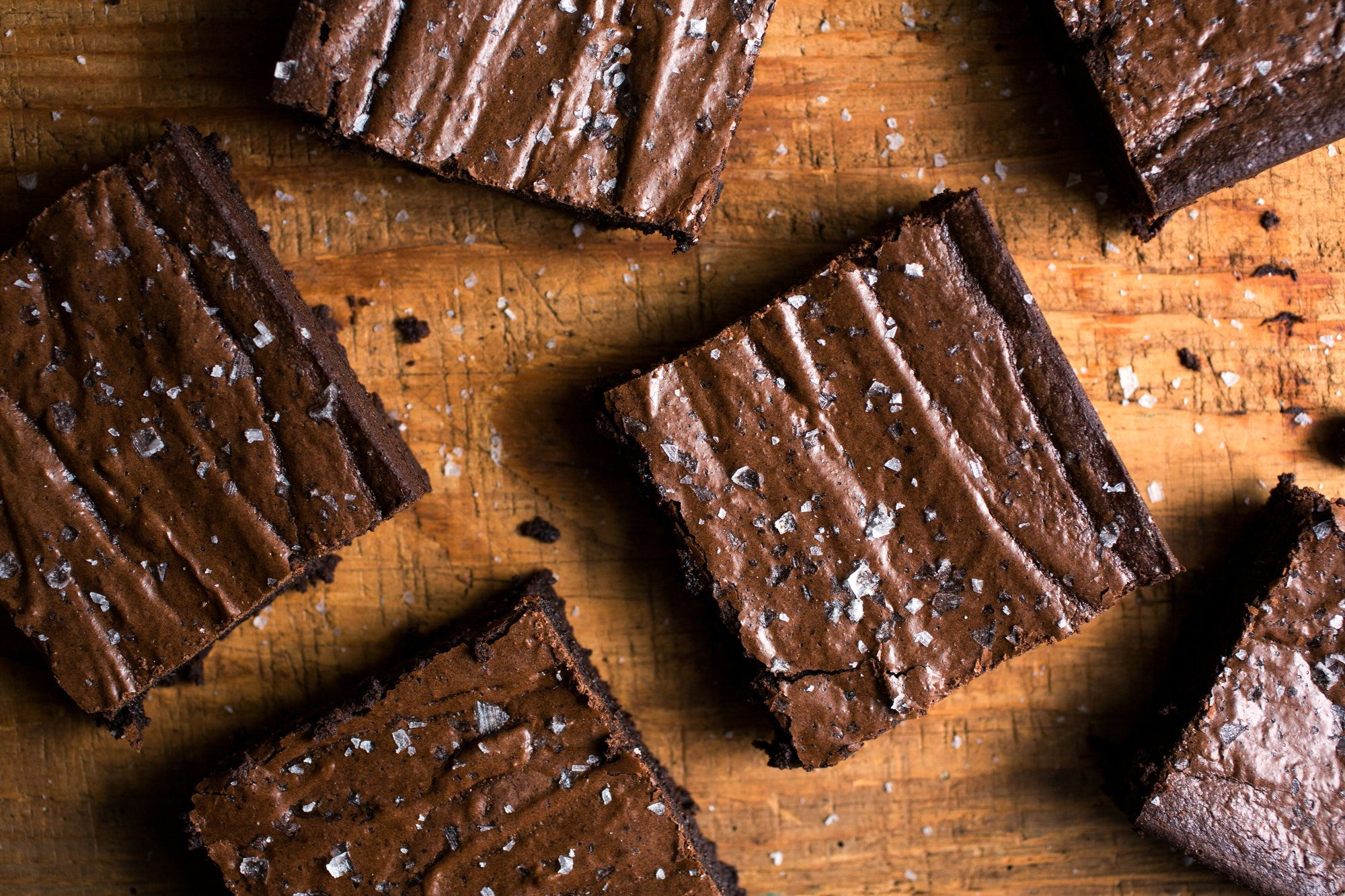 You wouldn't necessarily think adding rye flour to brownies would be a good idea, but it's fabulous The flour lends a deep earthiness that works wonderfully with the bittersweet depth of the chocolate A sprinkle of flaky sea salt on top makes it taste even more chocolaty