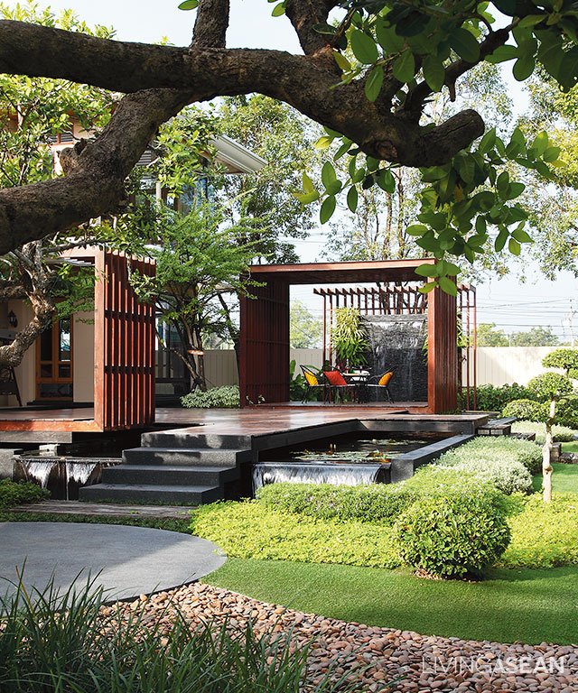 Australian Native Garden Design Back Garden No Grass Just Plants Decking Modern Landscaping Modern Landscape Design Garden Stairs