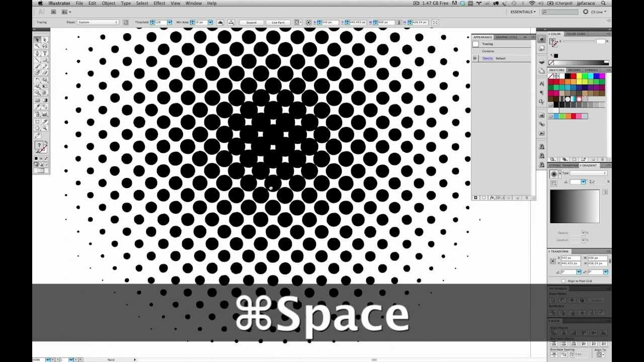 Illustrator Tutorial - Vector Halftone Effect (no plugins ...