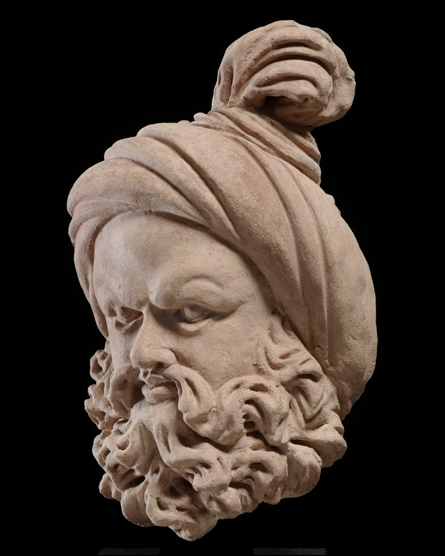 Terracotta Bearded Head With A Knotted Turban Gandhara Region 4th 6th Century Dimensions Height 34 Cm 13 2 5 In The Date Has Been Corroborated By En 2020 Art