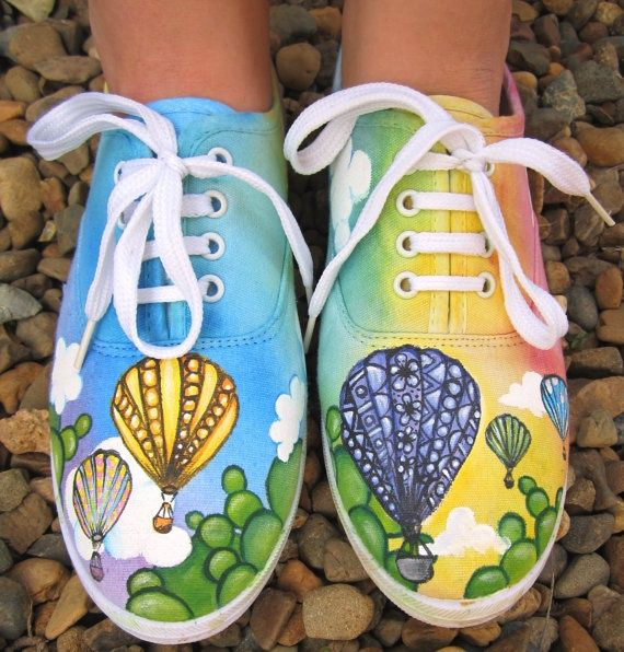 Custom painted canvas shoes by amyjoycreations on Etsy, $50.00