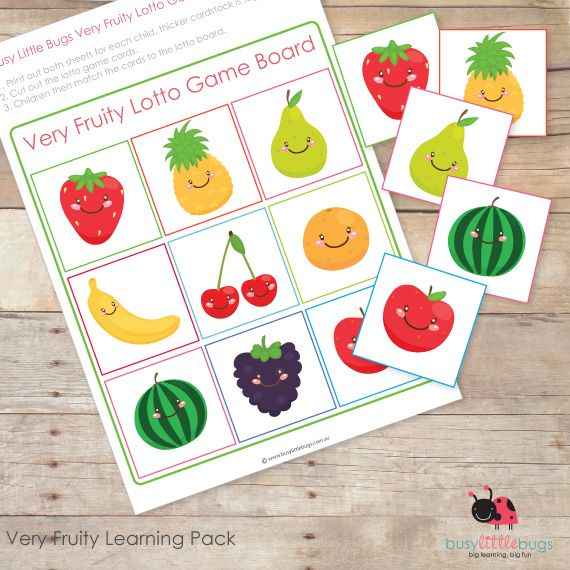 Very Fruity kids printables | Project Effective Mom | Pinterest ...