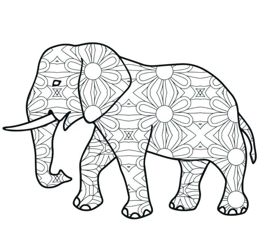 Free Elephant Coloring Pages For Adults Elephant Coloring Page Animal Coloring Pages Mandala Coloring Pages