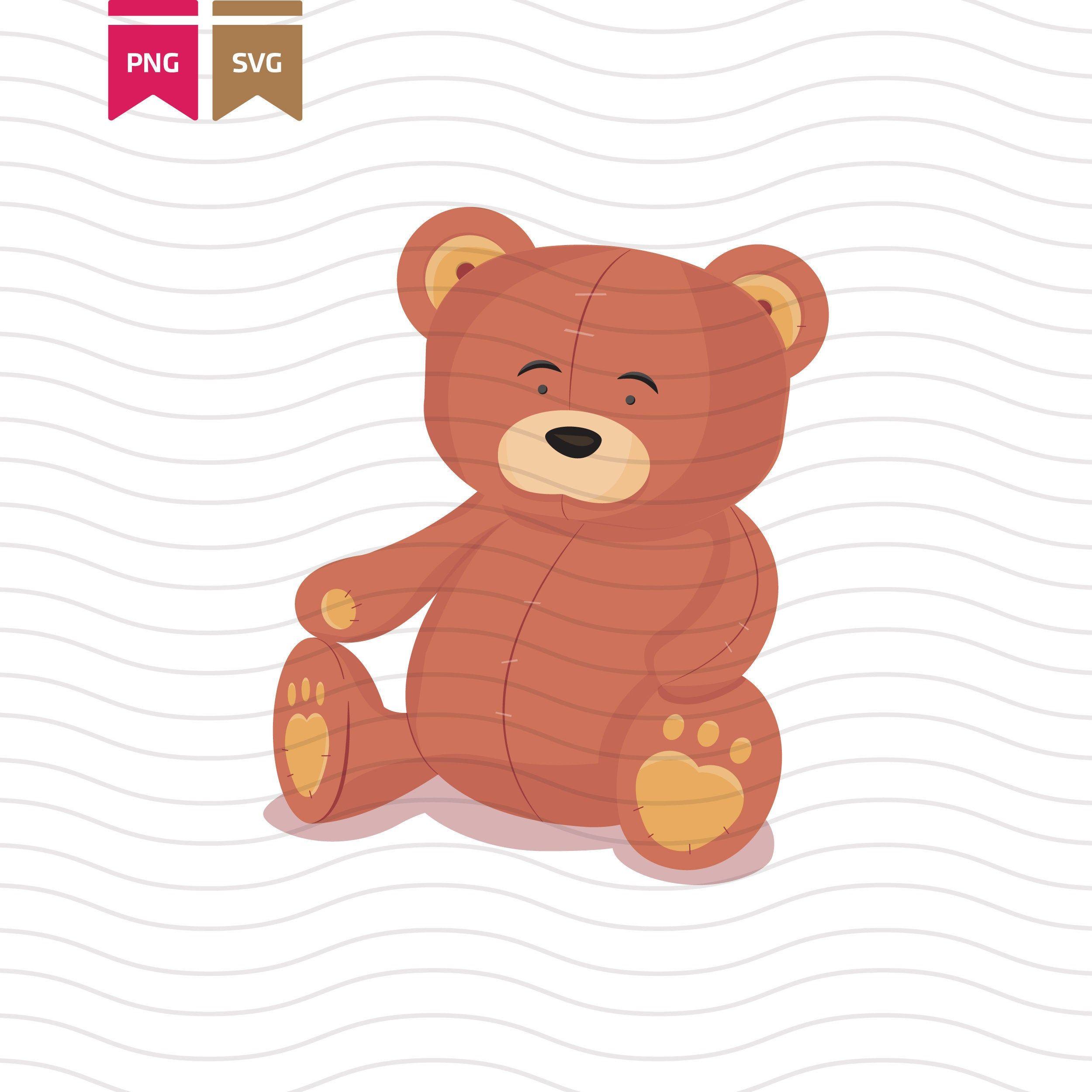 Cute Teddy Bear Svg Teddy Bear Printable Art Instant Etsy In 2021 Bear Illustration Svg Teddy Bear