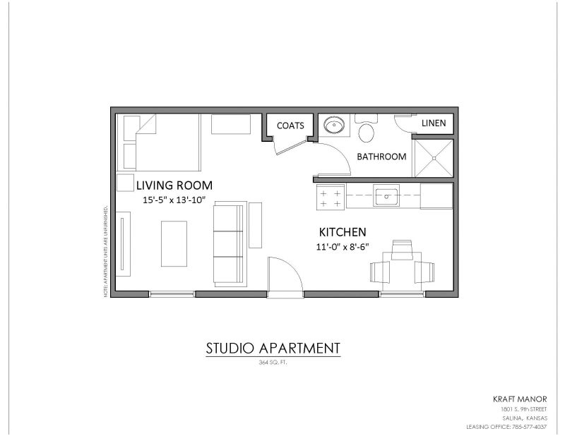 image result for 350 sq ft studio floor plan - 350 Sq Ft Floor Plan
