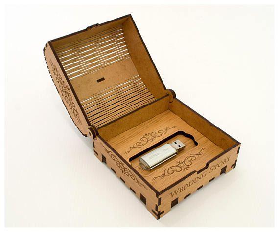 Caja peque a de madera caso usb boda boda usb caja for Cajas de madera pequenas