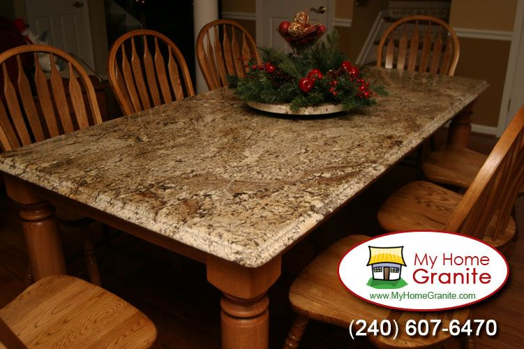 Beautiful Granite Dining Table With An Awesome Rotating Center