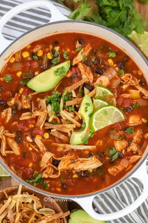 Chicken Tortilla Soup {Fav Comfort Food} - Spend With Pennies