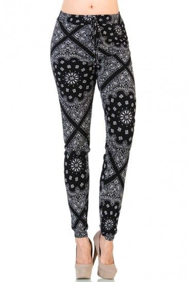 Bandana Sweatpants -black
