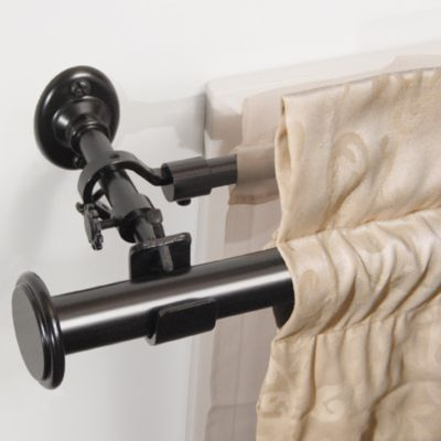 Double Curtain Rod To Layer Curtains Resolutions 28 Inch 70 Add A In Satin Black Bedbathandbeyond