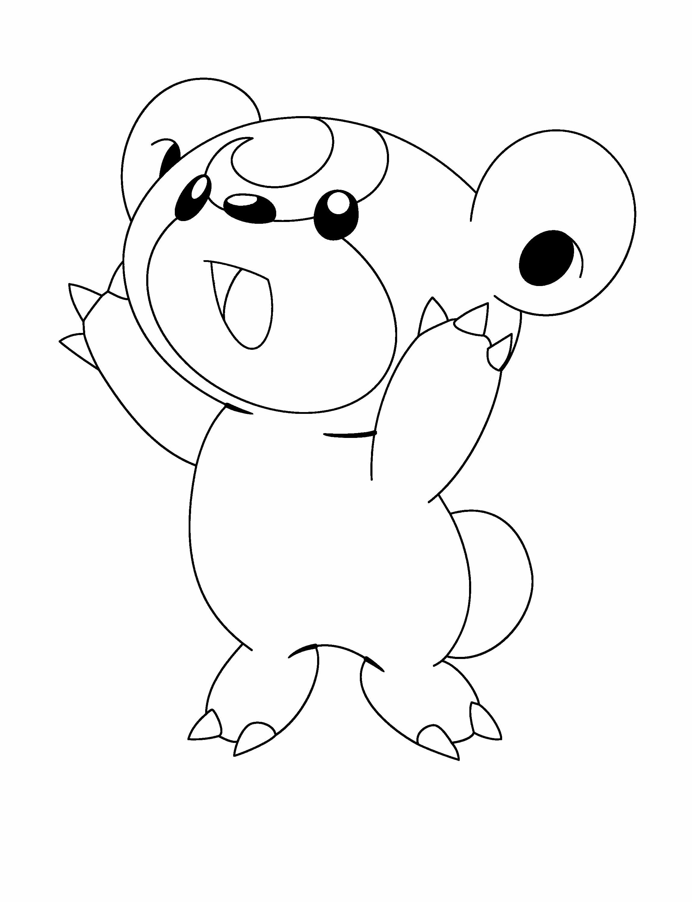 Pokemon coloring pages small - Small Pokemon Yell Coloring Pages