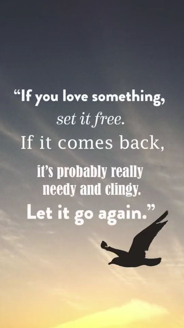 If You Love Something Set It Free If It Comes Back Its Probably