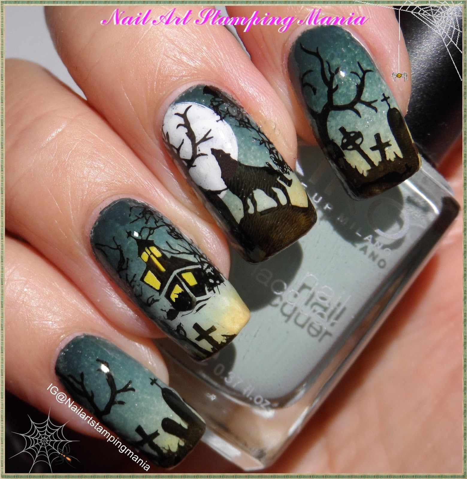 Hi girls! I have some more Halloween nails for you guys today! I ...