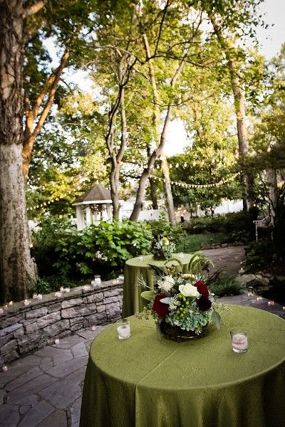 Nashville Garden Wedding Venue | Rustic Fall Jewel Tones | Garden |  great linens outside