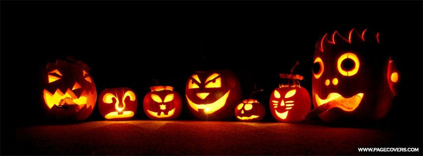 scary pumpkins halloween facebook cover - Halloween Cover Pictures