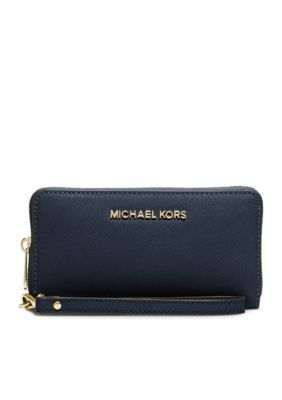 379d0f2ec3c2 MICHAEL Michael Kors Navy Jet Set Travel Large Flat Multifunction Phone Case