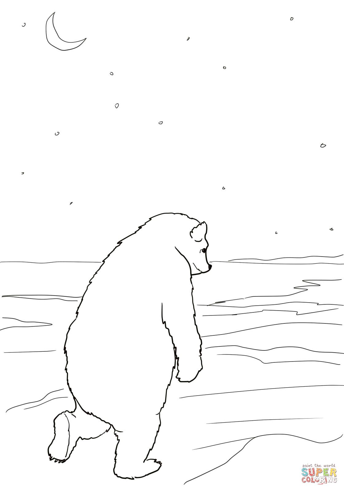 Bear Returns To His Cave Coloring Page Supercoloring Com