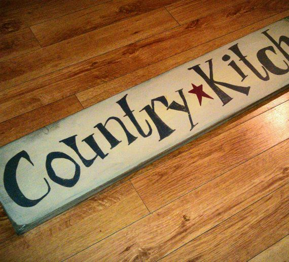 Primitive Kitchen Signs: Country Kitchen Rustic Primitive Custom Sign By