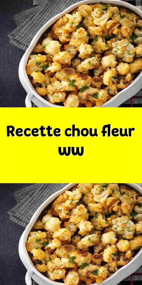 Recette chou-fleur ww en 2020 | Recette chou, Recette chou ...
