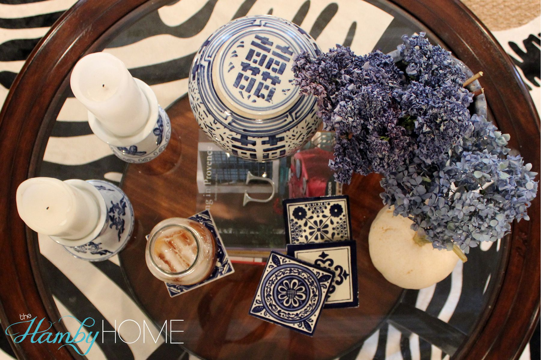 Diy Blue And White Mexican Tile Coasters