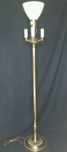 Stiffel floor lamp torchiere mogul mid century brass pole switch stiffel floor lamp torchiere mogul mid century brass pole switch candelabra aloadofball Images