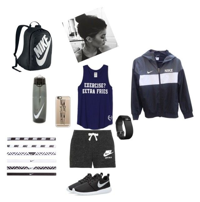 """Untitled #2"" by kaitlyn-ogg on Polyvore featuring NIKE, Fitbit, Casetify, women's clothing, women, female, woman, misses and juniors"