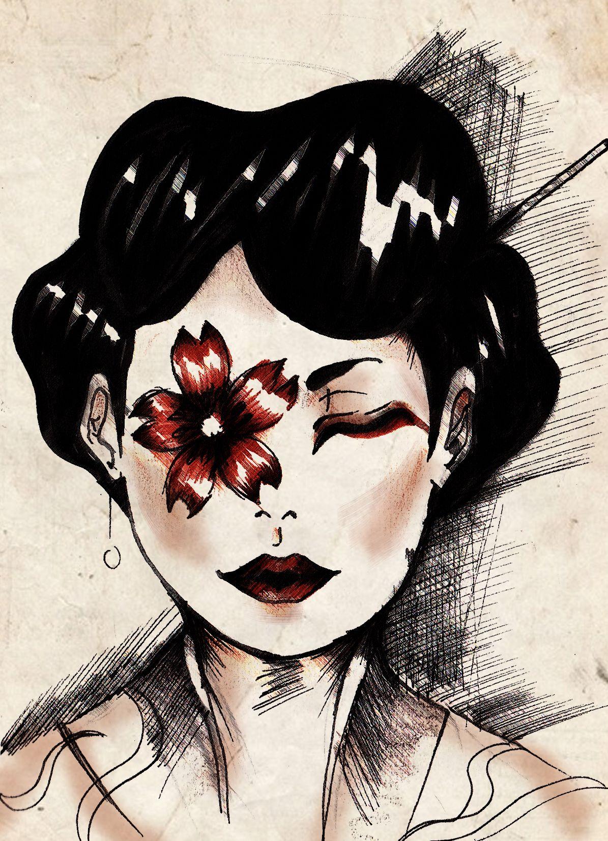 random sketch  I love japan culture  kind of inspirtation!