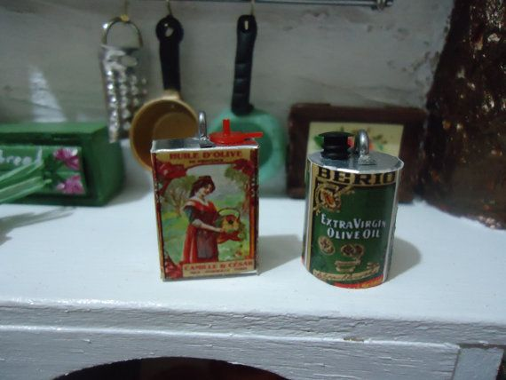RESERVED for Liliana miniature olive oil 2 PCS by MINISSU on Etsy, $3.99
