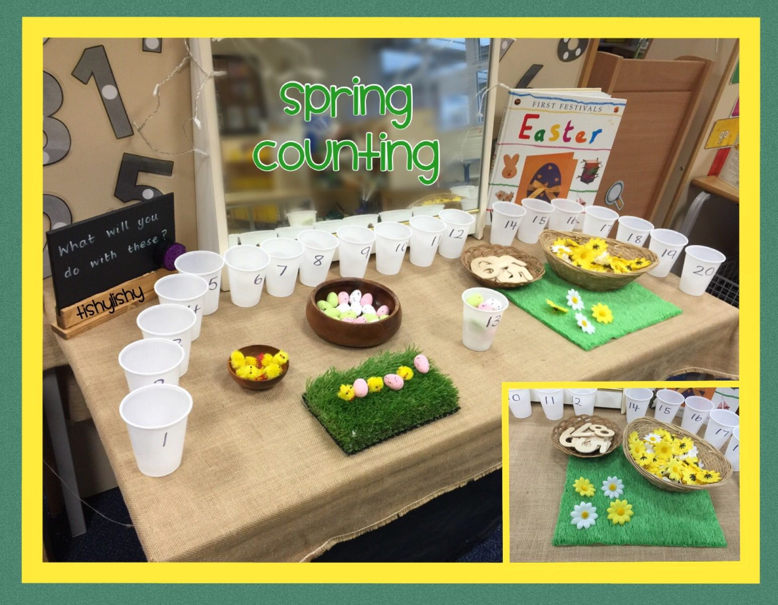 Spring Counting On The Maths Table Psrn Garden Ideas