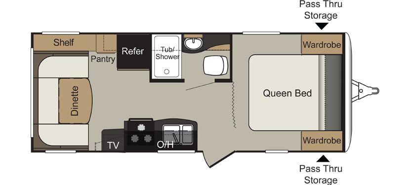 Keystone Rv 234qbwe Floorplan Travel Trailer Floor Plans Keystone Rv