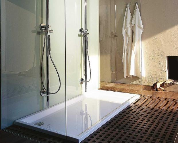 Bodengleiche Duschtasse tricks für mini badezimmer duravit philippe starck and room